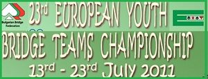 23th European Youth Team Championship – 2011, 13 -23 July in  Albena