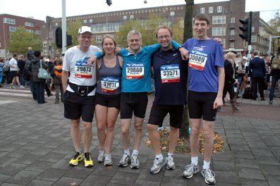 I campioni olandesi corrono la Maratona di Amsterdam