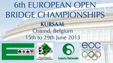 6th European OPEN Bridge Championships – Ostend 2013