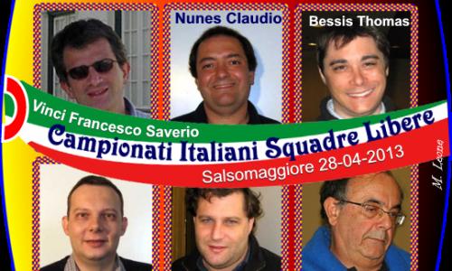 Campionati Italiani a squadre libere 2013: Vinci si conferma Campione d'Italia