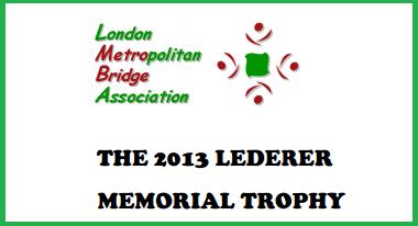 2013 Lederer Memorial Trophy