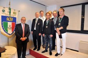 Silver Medal - Bamberger Reiter (Germany): Michael Gromöller (pc), Jörg Fritsche, Helmut Häusler, Andreas Kirmse, Josef Piekarek, Alexander Smirnov