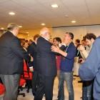 WBF President Gianrarigo Rona congratulating Giorgio Duboin (Italy)