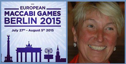 Sabine Auken Ambasciatrice del Bridge alle Maccabiadi Europee 2015