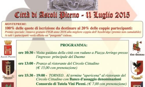 Ascoli Piceno, 11 luglio 2015: Primo Torneo di Bridge della Quintana