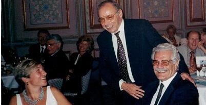 Omar Sharif, Jose Damiani & Sabine Auken (WBF)