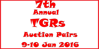7th TGRs Auction Pairs