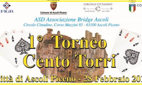 """Ascoli Piceno 28 febbraio: Torneo a coppie """"Cento Torri"""""""
