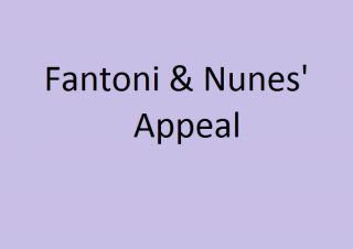 Fantoni e Nunes: Abandonment of Appeal
