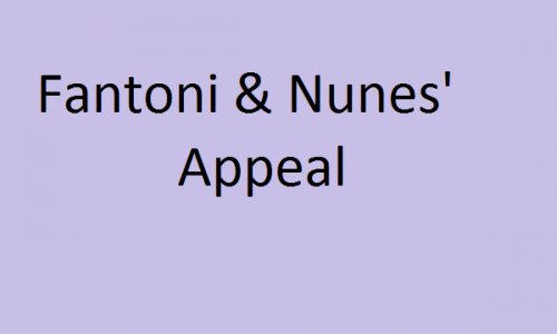 Fantoni & Nunes' Appeal: Highlights