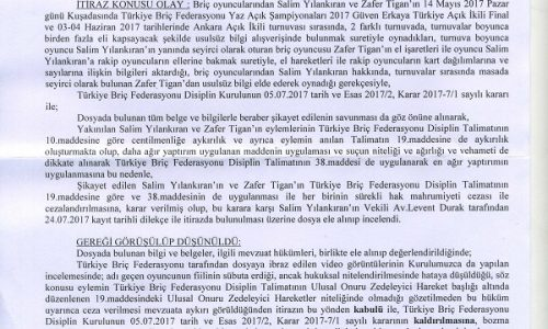 Turkish Cheating Case: Judgement issued by Youth and Sports Ministry