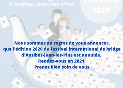 2020 Festival Bridge Juan-les-Pins cancelled