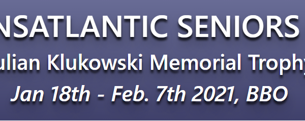 Transatlantic Senior Teams – Julian Klukowski Trophy