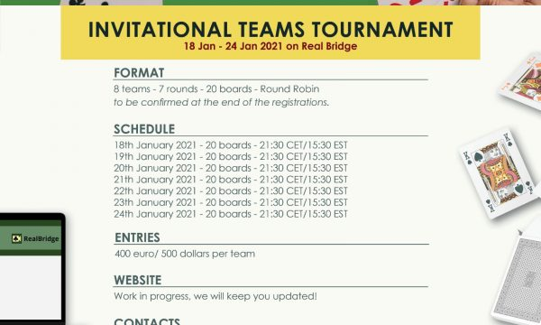 Peace&Bridge 1st Invitational Tournament: Team Rosters